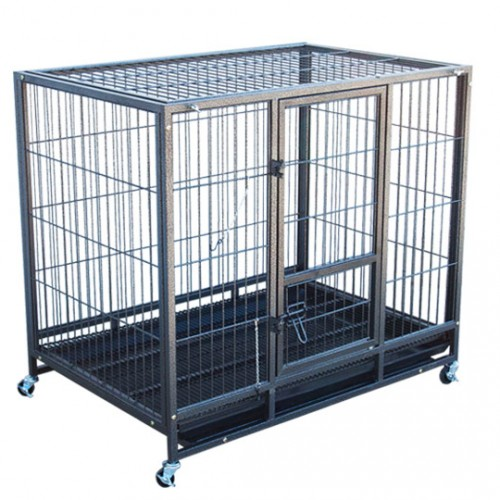 Metal Dog Cage (with trolley & plastic tray)