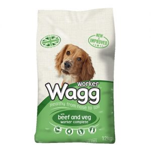 Wagg Worker Dog Food with Beef and Veg