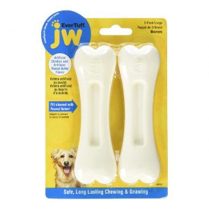 JW Pet Nylon Double Pack Chicken & Peanut Butter Dog Bone