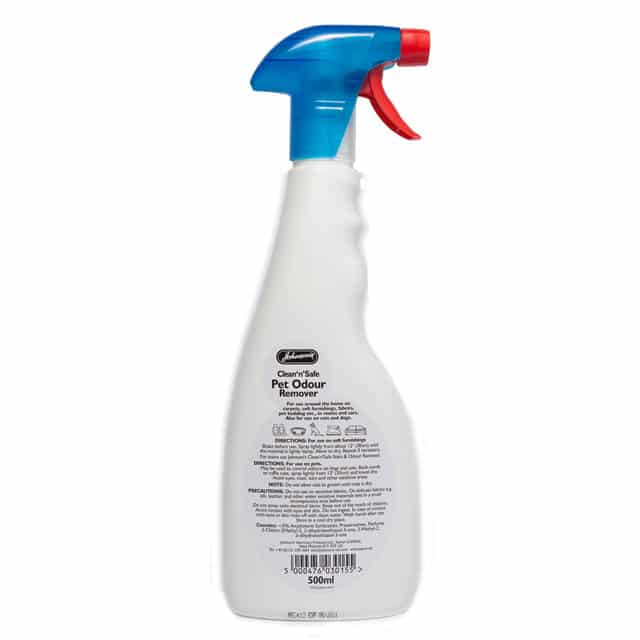 Johnson's Clean 'n' Safe Pet Odour Remover_back