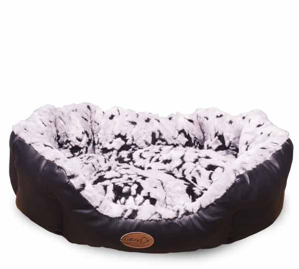 Catry Dog Bed- Black and Grey