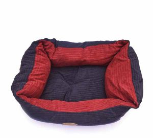 Catry Dog Bed (Blue and Red)