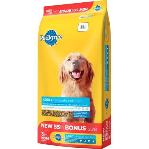 Pedigree Adult Dog Food, 55 lbs