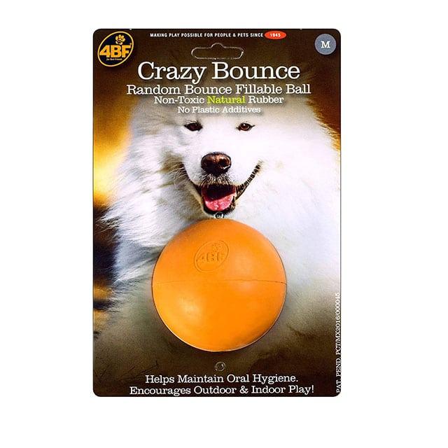 4BF Crazy Bounce Ball Dog Toy, Medium