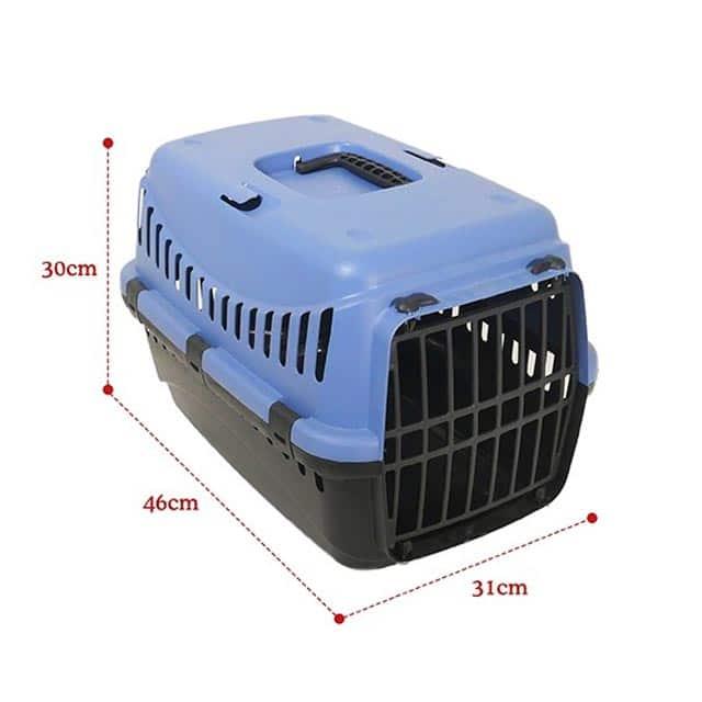 Eco Line Pet Carrier Small Slate Blue-Black_1