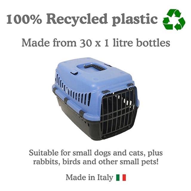 Eco Line Pet Carrier Small Slate Blue-Black_2