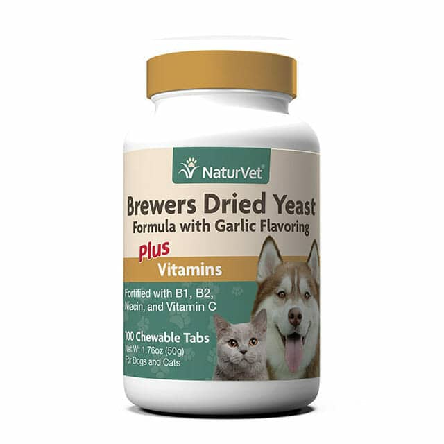 Naturevet Brewers Dried Yeast With Garlic Chewable Tablets