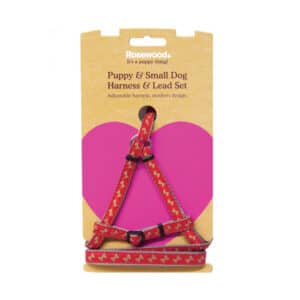 Rosewood Puppy and Small Dog Harness and Lead Set