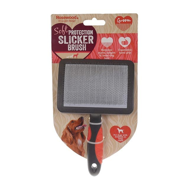 Rosewood Soft Protection Salon Grooming Slicker Brush Large