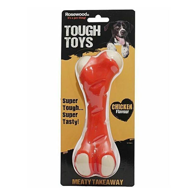 Rosewood Tough Toys Meaty Chicken Takeaway Leg Small