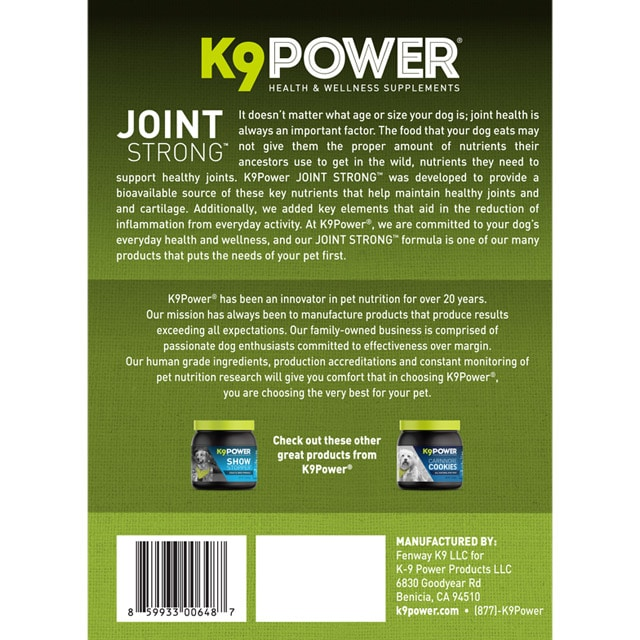 Joint Strong – Joint Support Formula For Your Dog's Joint Health and Mobility