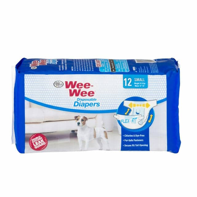 Four Paws Wee-Wee Disposable Diapers Small