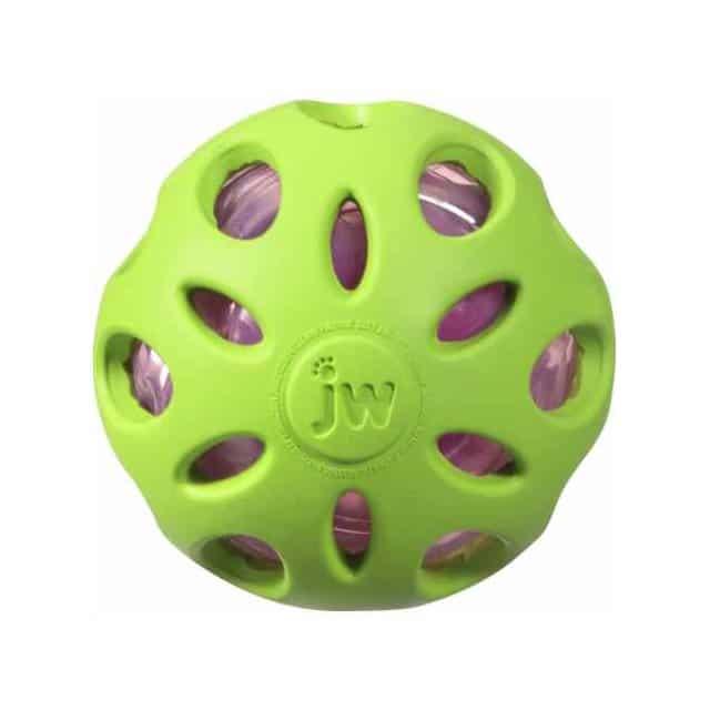 JW Crackle Heads Crackle Ball_lemon