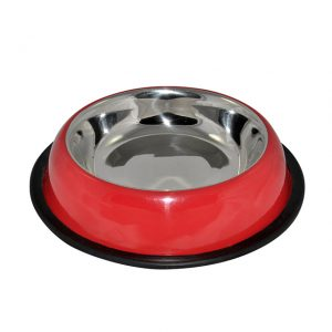 Red Aglow Belly Non-Skid Bowl