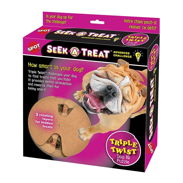 Ethical Pet Seek-A-Treat Flip N' Flap Puzzle Dog Toy