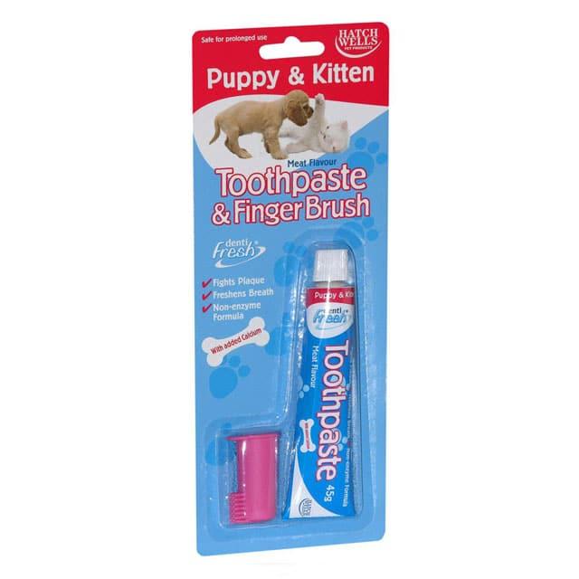Dentifresh Toothpaste and Finger Finger Brush