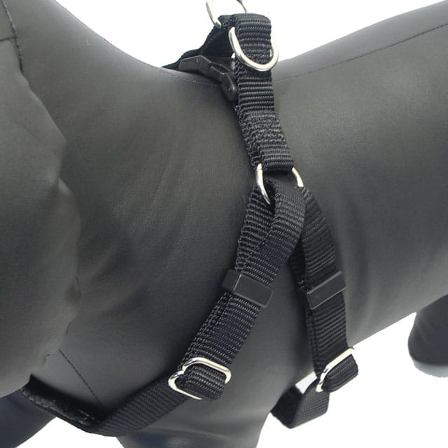 Rosewood Soft Protection Classic Dog Harness_black2