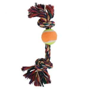 Booda Tennis Ball 'N Bone Dog Toy (Multicolor Medium)