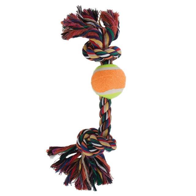 Booda Tennis Ball 'N Bone Dog Toy (Multicolor Medium)