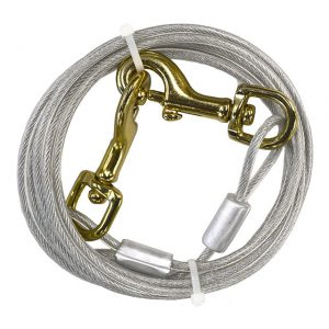 Four Paws Medium Weight Dog Tie Out Cable - 10ft