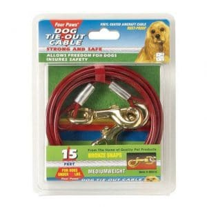 Four Paws Medium Weight Dog Tie Out Cable - 15f