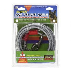 Four Paws Medium Weight Dog Tie Out Cable - 20ft