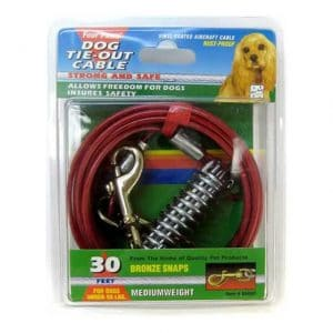 Four Paws Medium Weight Dog Tie Out Cable - 30ft