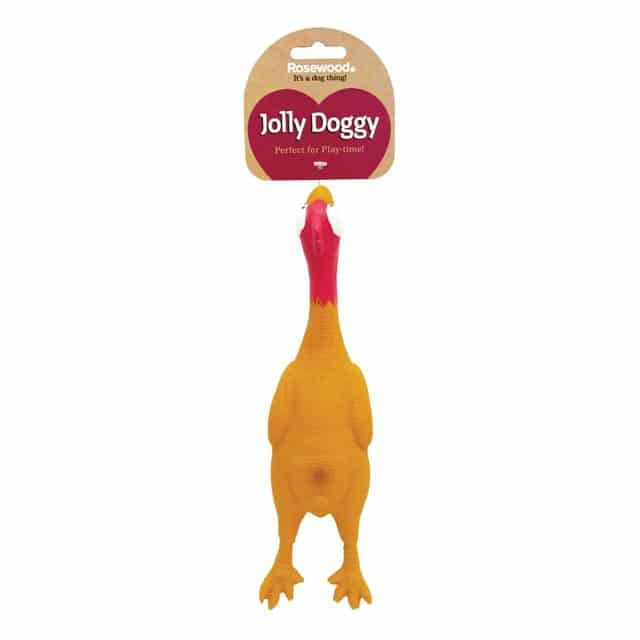 Jolly Doggy Latex Chicken Large Dog Toy