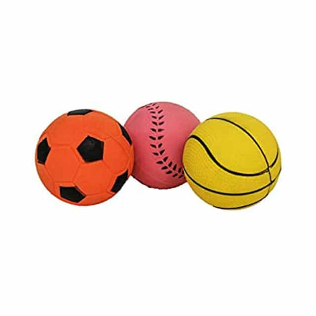 Rosewood Jolly Doggy Rubber Sports Balls Dog Toys