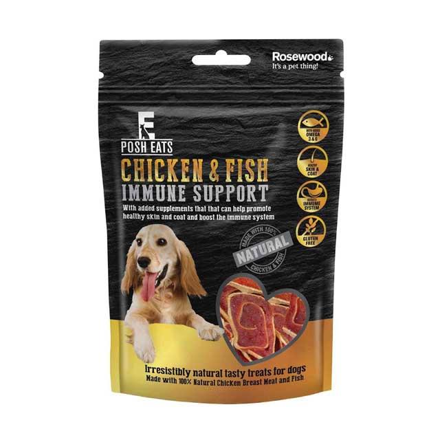 Rosewood Posh Eats Chicken Fish Immune Support Dog Treats 80g