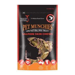Pet Munchies Medium Salmon Skin Chews