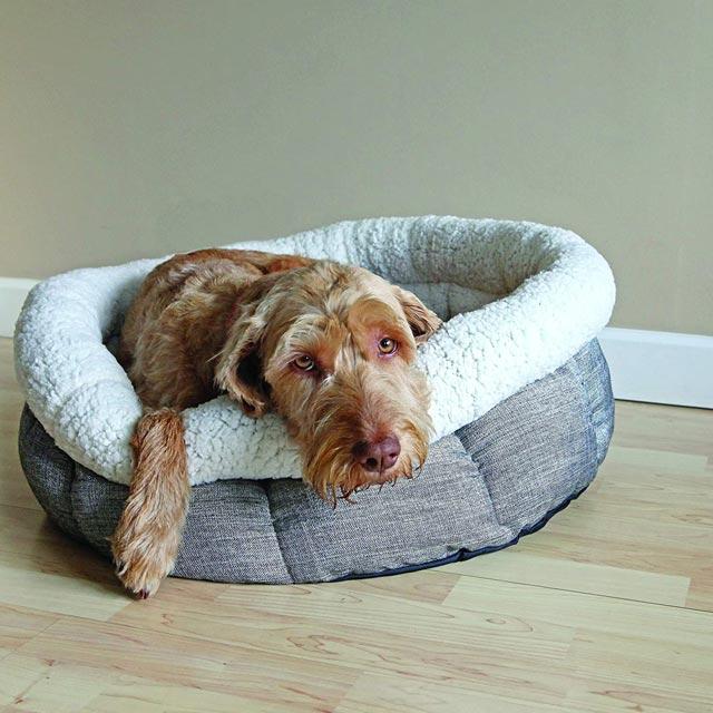 Rosewood Deep Tweed Round Teddy Bear Bed_3