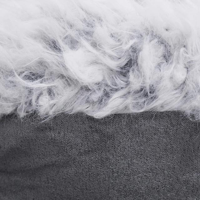 Rosewood Grey Lion Faux Suede Bed_2
