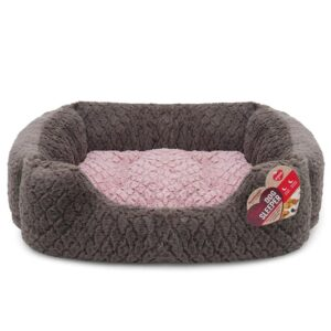 Rosewood Grey & Pink Square Bed