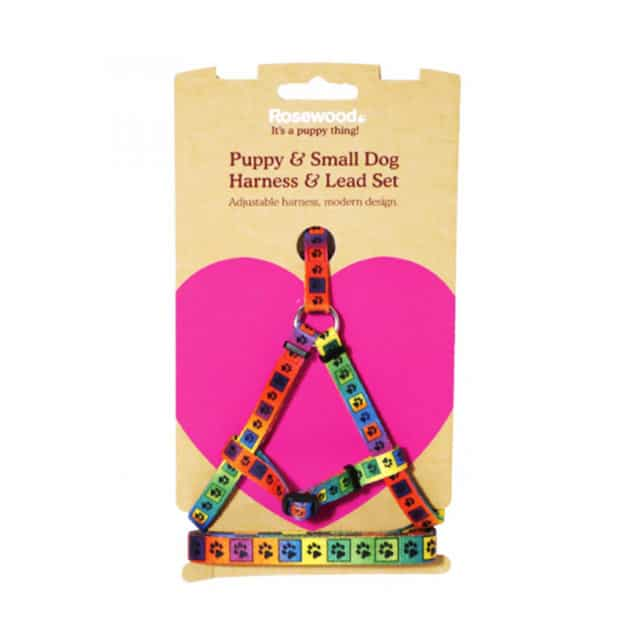 Rosewood Puppy and Small Dog Harness and Lead Set_2