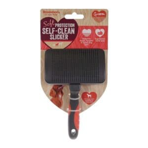 Rosewood Soft Protection Grooming Self Clean Slicker Small