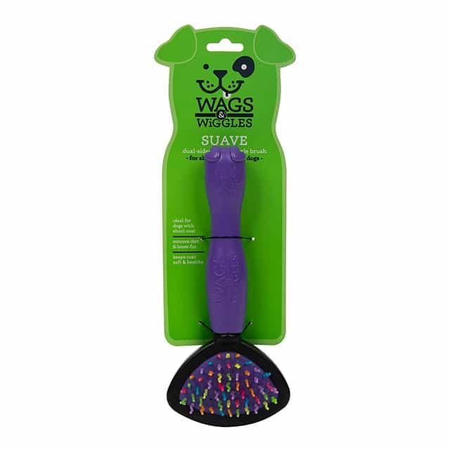 Wags & Wiggles Small Dual Sided Bristle & Wiggle Pin Brush
